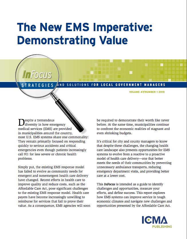 The New EMS Imperative: Demonstrating Value - Fitch and